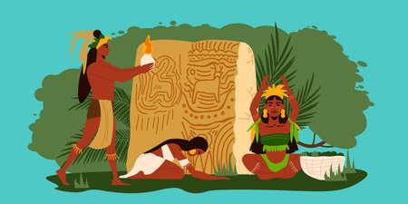 Maya Flat Illustration Иллюстрация
