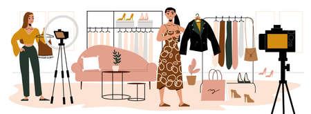 Fashion Bloggers Illustration Иллюстрация