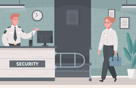 Security Service Coworkers Composition