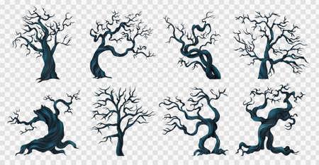 Spooky Trees Transparent Set