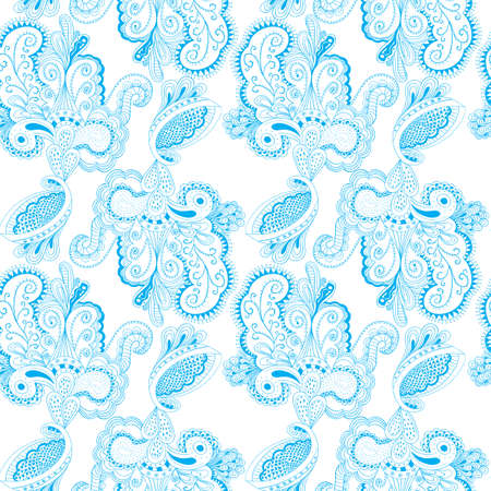 Seamless Background Pattern with many details and lacy arabesque designs vector illustration Ilustração
