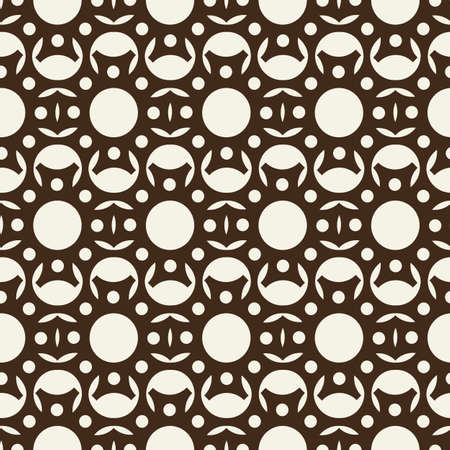 Vector seamless pattern with repeating objects. Monochrome minimalist graphic design. Vector Illustration, eps10, contains transparencies.