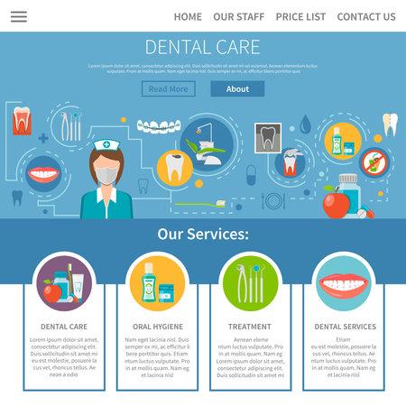 Dental Care Page. Dental Care Design. Dental Care Vector Illustration. Dental Care Symbols. Dental Care Presentation. Dental Care Flat Elements. Dental Care Website.