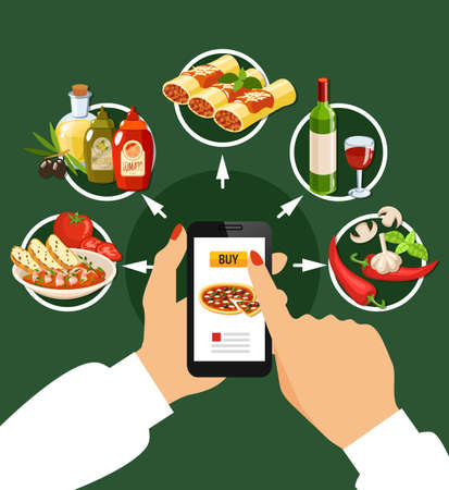 Italian cuisine et of popular dishes with stuffed cannelloni minestrone soup pasta with mussel pizza ravioli tiramisu flat icons vector illustration