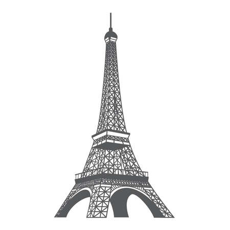 Vector illustration of the Eiffel tower