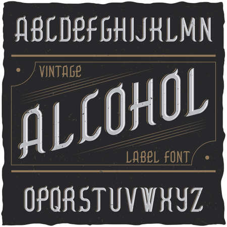 Vintage label typeface named Alcohol. Good font to use in any vintage labels or logo.
