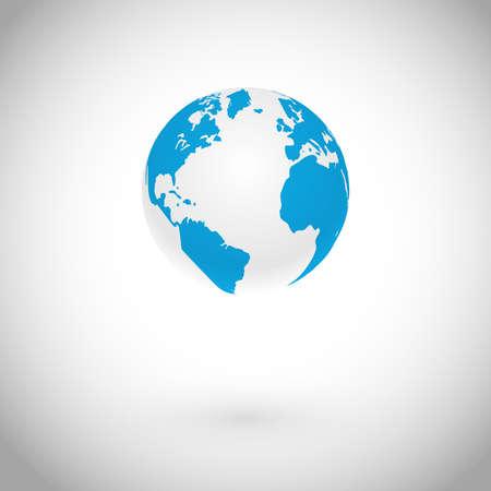 Globe Symbol over white concept Vector Icon