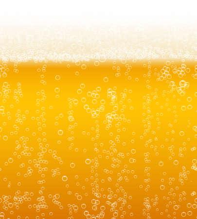 Vector beer foam background horizontally seamless pattern