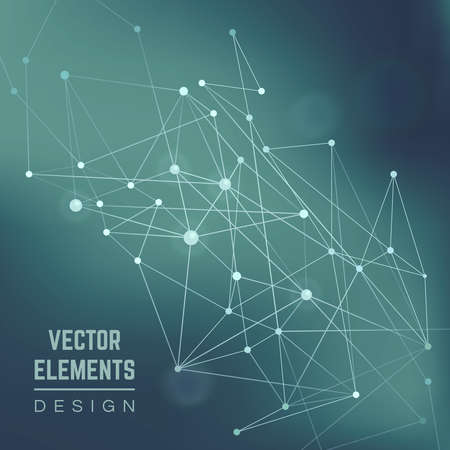 Molecule structure. Connection chemistry, science and research, technology illustration . Abstract vector background
