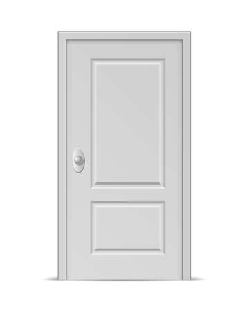 Vector Closed Door isolated on white background