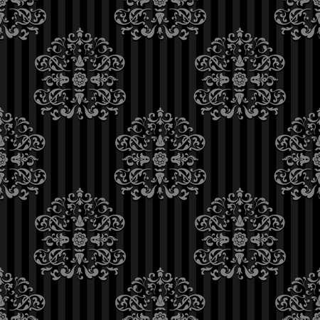 Seamless Vector Royal background. Gray strips on Dark
