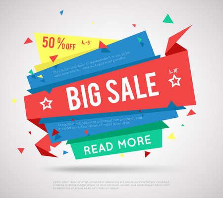 Big Sale Banner. Modern sale label, super sale or special offer sale banner. Vector Illustratie