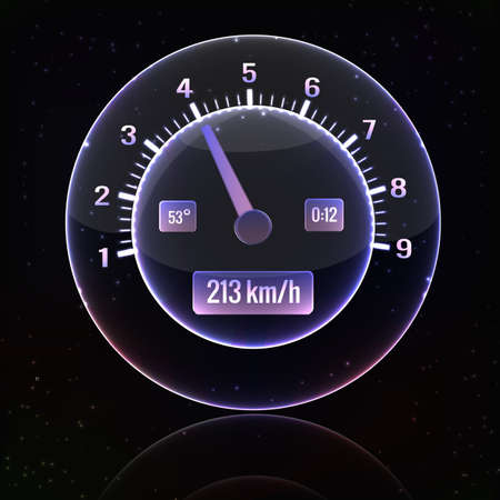 Speedometer interface background vector Illustration