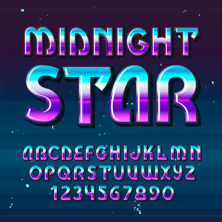 """Original label typeface named """"Midnight Star"""". Good handcrafted font for any label design."""