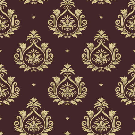 Royal seamless background. Wallpaper with floral element. Vector illustration design Vettoriali