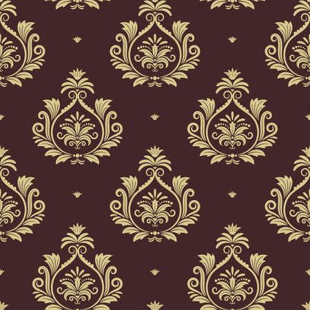 Royal seamless background. Wallpaper with floral element. Vector illustration design Vektorové ilustrace