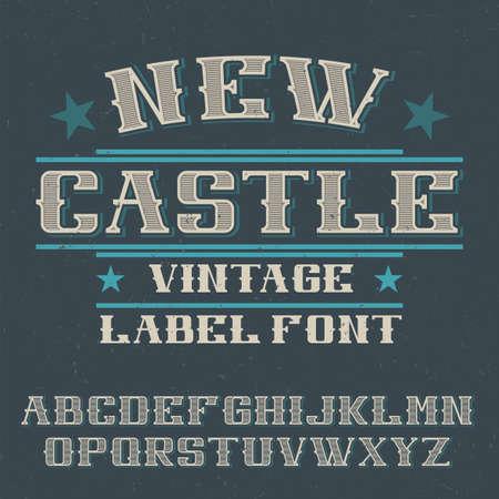 Vintage label typeface named New Castle. Good font to use in any vintage labels