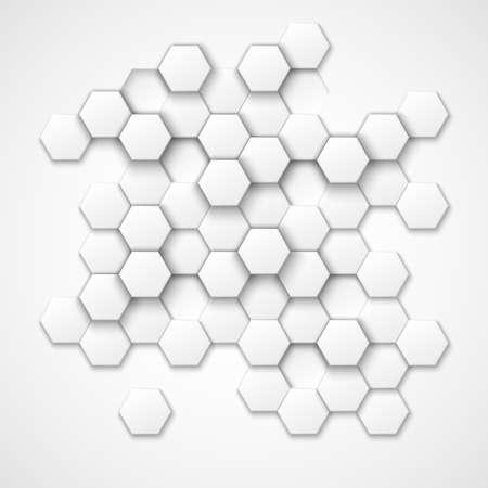 Abstract hexagonal vector background. Hexagon shape, geometric hexagonal pattern, texture hexagonal, decoration hexagonal illustration