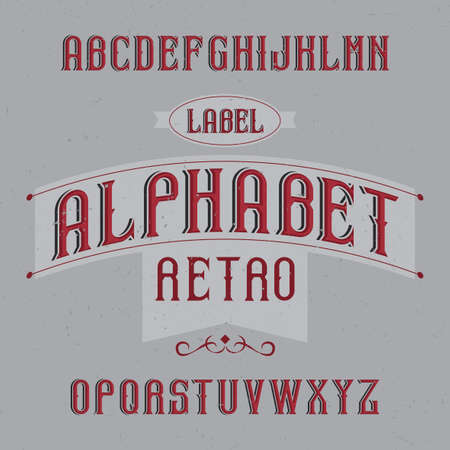 Vintage label typeface named Retro Alphabet. Good font to use in any vintage labels