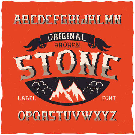 Vintage label typeface named Stone. Good font to use in any vintage labels