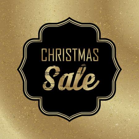 Christmas holiday sale black banner on light background flat vector illustration Ilustracja