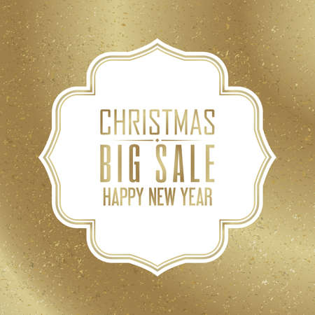 Christmas and new year sale advertisement on gradient background flat vector illustration