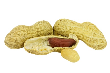 nutshell: Peanuts isolated in open nutshell