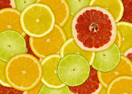 Abstract background with citrus-fruits slices Stock Photo - 18845251
