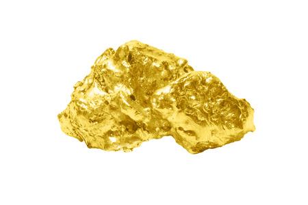 Golden bullion close up isolated on white background. Reklamní fotografie