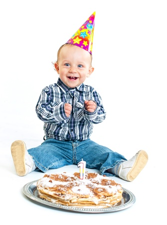 first birthday: First birthday. Stock Photo