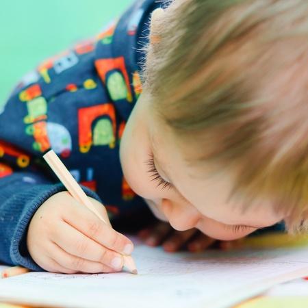 Little Boy Drawing Stock Photo - 9551147