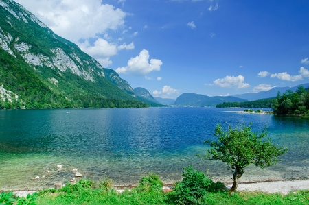 bohinj: Lake Bohinj. Slovenia Stock Photo