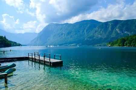 Lake Bohinj. Slovenia photo