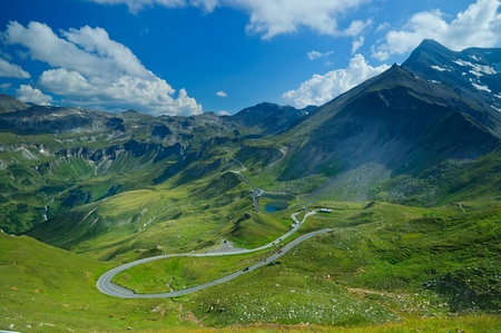 Bird's-eye view on the Grossglockner-highway Stock Photo - 9703737