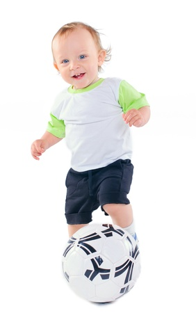 Little football player Stock Photo - 9796815