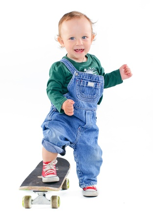 Little boy on a skateboard photo