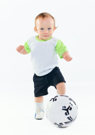 Little football player Stock Photo - 9893010