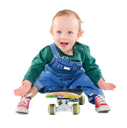 Little boy on a skateboard photo