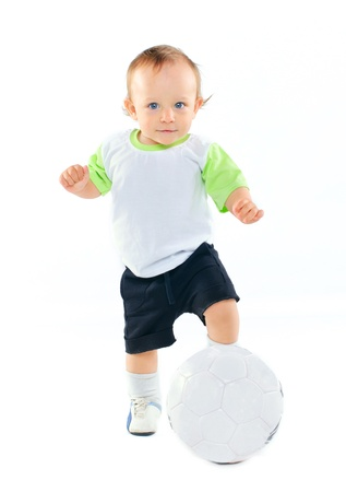 Little football player Stock Photo - 9895658