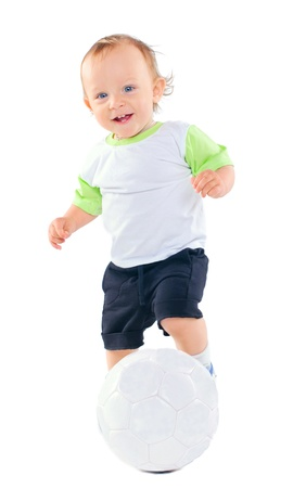 Little football player Stock Photo - 9895657