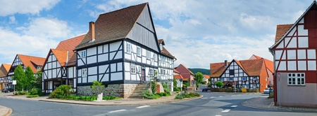 half timbered house: Romantic half-timberred old houses
