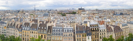Panorama of of Paris, France with the Eiffel tower photo