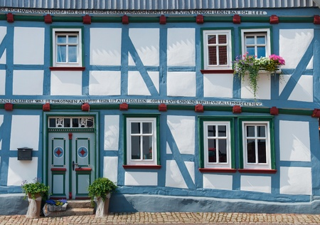 half timbered house: German Half-timbered house Stock Photo