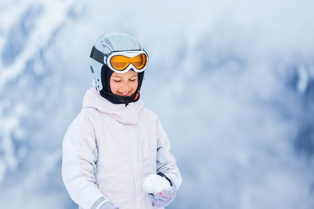 Young girl a ski wear photo