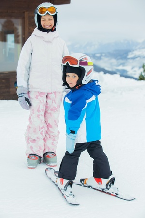 Young skiers. photo