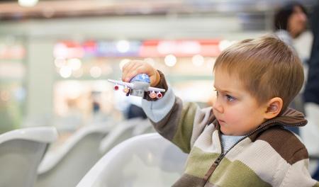 Little Boy Toy Airplane photo