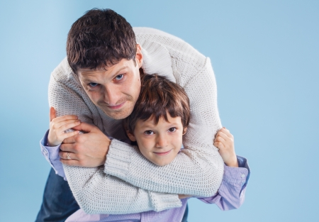portrait of the father and son Stock Photo - 12370472
