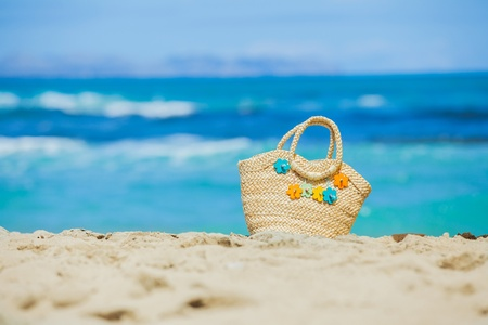 Photo of straw beach bag