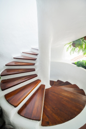 staircase structure: White Spiral Staircase