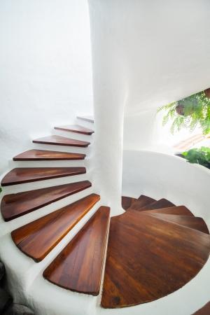 White Spiral Staircase